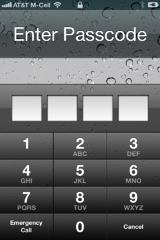 First layer of HIPAA security on iPhone